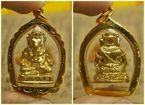 Phra Pikanet Pi Ganesh Amulet Necklace Pendant For Love Lucky Wealth P81