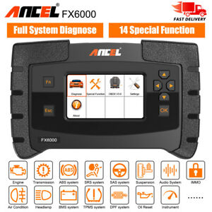 Obd2 Scanner Abs Srs Sas Epb Dpf Oil Tpms Full System Diagnostic Ancel Fx6000 Us