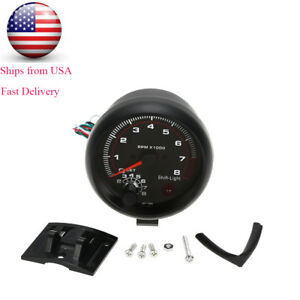 3 75 Car Universal Tachometer Gauge White Inter Shift Light 0 8000 Rpm C0c2