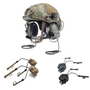 A Pair Headset Holder Fast Ops-tactical Core Helmet ARC Rail Adapter fo C1 C2 C4