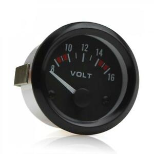 2 Inch 52mm Volt Voltage Meter Voltmeter Gauge Boat Car Auto 8v 16v Us Shipping