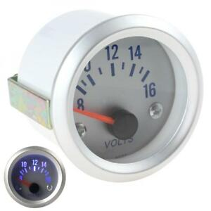 2inch 52mm 8 16v Universal Blue Light Voltage Meter Auto Car Gauge Voltmeter 12v