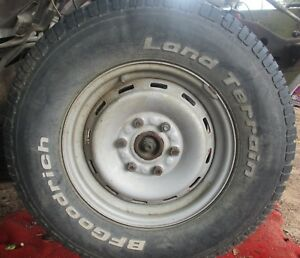 92 93 94 95 96 99 Chevy Gmc Truck 6 Lug Wheel Rim With Tire Good For Spare