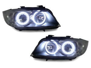 Depo Factory Seal Led Angel Halo Headlight Clear Corner For 06 08 Bmw E90 e91