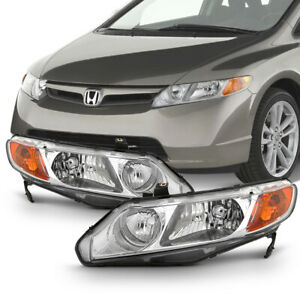 Factory Style 06 11 Honda Civic 4dr Left Right Replacement Headlight Assembly