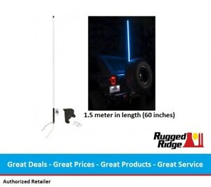 Rugged Ridge Rgb Lighted Led Whip For 07 18 Jeep Jk Wrangler 2 And 4 Door