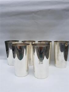 A G Schultz C 1920 Sterling Silver Mint Julep Cups Tumblers Set Of 6