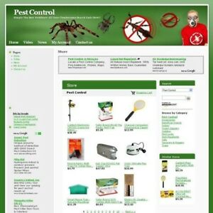Completed Pest Control Online Store Business Website For Sale Free Domain Name