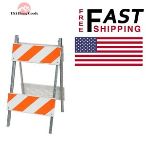 Plastic Folding Barricade 8 8 In Type Ii Safety Traffic Sign Stand Durable
