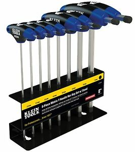 Klein Tools Jth68m 8pc 6 Metric Journeyman T handle Set With Stand