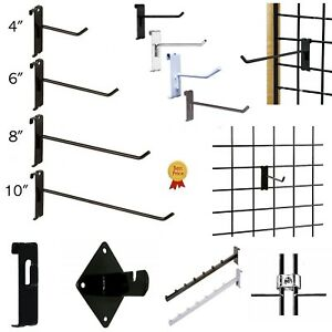 Gridwall Hooks Hangers Display Craft Art Show Stand Grid Rack 12 24 50 100 Pack