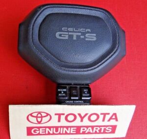 Toyota Celica Gts Steering Wheel Horn Pad With Cruise Control Excellent Gray