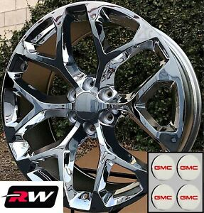 20 X9 Inch Gmc Sierra 1500 Factory Style Snowflake Wheels Chrome Rims 6x139 7