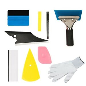 9pcs Car Tint Scraper Squeegee Tools Kit Auto Window Film Tinting Installation