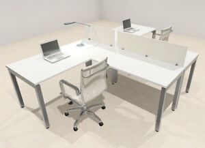 Two Person Modern Divider Office Workstation Desk Set of con sp1