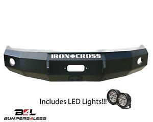 Iron Cross 20 515 16 Blk Frnt Winch Hd Bumper W Leds For 16 19 Chevy 1500