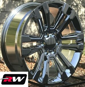 20 Inch Chevy Tahoe Factory Style Denali Wheels 2017 2018 Chrome Rims 6x5 50