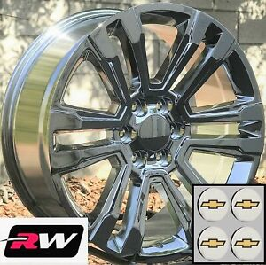 22 Inch Chevy Tahoe Factory Style Denali Wheels 2017 2018 Chrome Rims 6x5 50