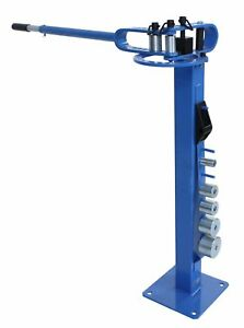 Erie Tools Pedestal Floor Compact Bender Metal Fabrication Tube Pipe Rod 7 Dies