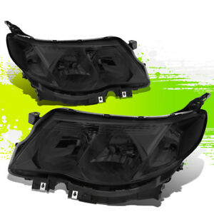 For 09 13 Subaru Forester Oe Front Bumper Driving Headlight lamps Smoked clear