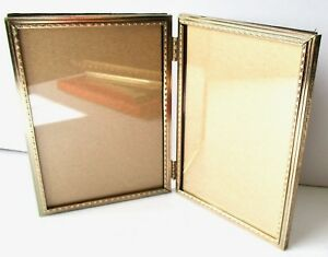 Vintage Hollywood Regency Mid Century Double Frame Gold 5 X 7