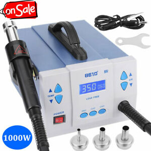861d Quick Lcd Soldering Hot Gun Digital Rework Station Lead free 110v 1000w Us