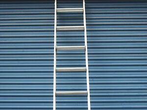 16 Ft Aluminum Extension Ladder With Serrated Flat Rungs By Werner Ladder