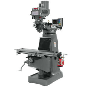 Jet Jtm 4vs Mill With Acu rite Vue Dro With X axis Powerfeed 690401