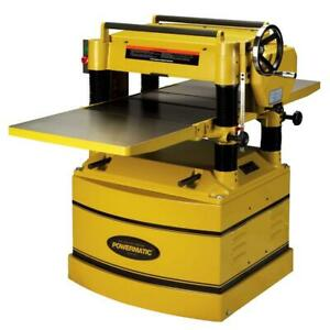 Powermatic 209hh 3 5 hp 230 460v 20 Heavy Duty Planer W Helical Cutterhead