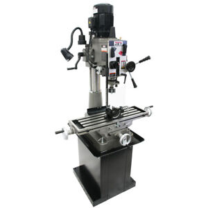 Jet 351040 1 1 2 inch 230 volt 1 1 2 hp Single Phase Geared Head Mill drill