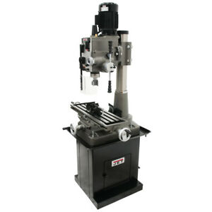 Jet 351152 1 1 2 inch Square Column Mill drill W Power Downfeed 2 axis Dro