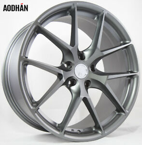 19x8 5 9 5 Aodhan Ls007 5x120 15f 15r Gun Metal Wheels Set Of 4