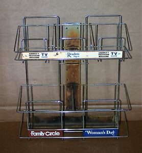 Vintage Atlas Wire Display Rack Womens Day Family Circle Tv Guide Readers Digest