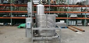 Food Grade 304 Stainless Process Coil Tank Blend Station W Heat Exchanger