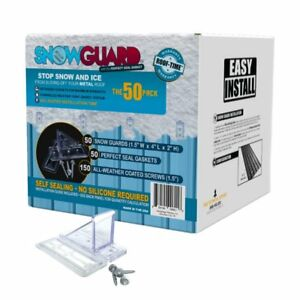 50 Pack Mini Snow Guard Stop Ice Buildup Seal Gasket Metal Roof Mounting Screws
