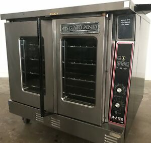 Used Single Garland Master Gas Convection Oven Deep Bakers Depth On Casters