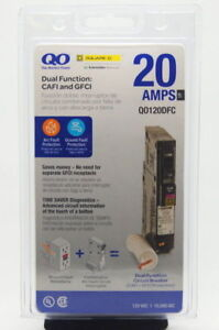 Qo 20 Amp Qo120dfc 1 Pole Circuit Breakers Dual Function Brand New