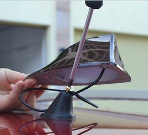 Fit Brz And Mits Only Usa Slim Shape Shark Fin Track Roof Mount Antenna Black