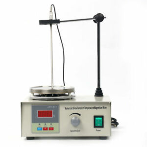 Magnetic Stirrer Hotplate With Heating Plate Home Lab Mixer 1000ml Ac 110v