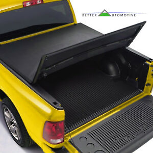 Lock Soft Solid Hard Tri Fold Tonneau Cover For 16 19 Toyota Tacoma 5 Short Bed