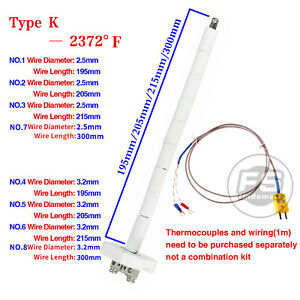 New High Temperature Type K Thermocouple Core Ceramic Kiln Probe 2372 f