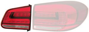 Hella Red Inner Led Tail Light Rear Lamp Left Fits Vw Tiguan 2011 Facelift