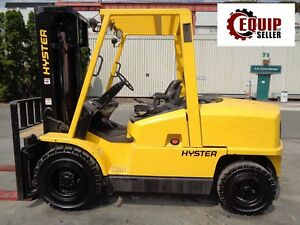 Hyster H100xm 10 000lbs Forklift Triple Mast Side Shift