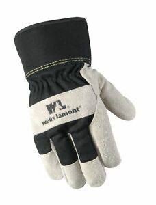 Men s Winter Work Gloves With Leather Palm 100 gram Insulation Suede Cowhid