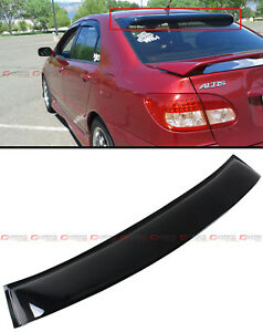 For 2003 08 Toyota Corolla Jdm Smoke Tinted Rear Roof Aero Rain Sun Window Visor