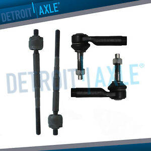 2010-2017 Lincoln MKS MKT Ford Flex Taurus for Front Inner & Outer Tie Rod Kit $36.26