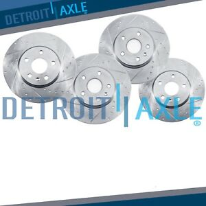 Front Rear Drilled Rotors 2007 2008 2009 2010 2011 2012 2017 Jeep Wrangler