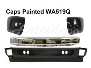 Front Bumper Chr Face Bar Wa519q Caps Valance For Silverado 1500 2008 2010