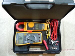 Fluke 117 323 Electrician Kit With Accessories Hard Case 57871 57872