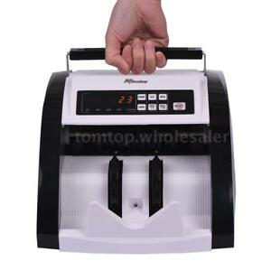 Auto Money Cash Counting Bill Counter Bank Counterfeit Detector Uv